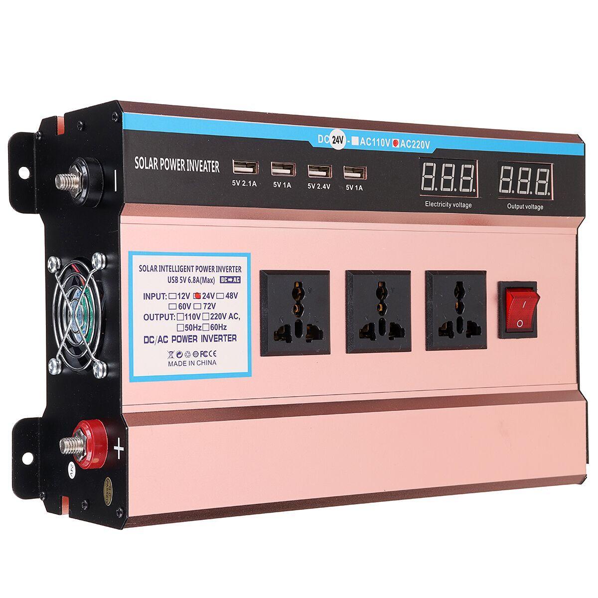 10000W Peak Solar Power Inverter DC 12/24V to AC 220V Modified Sine Wave  USB Converter