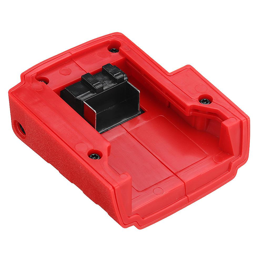 DC 12V Adaptador USB Puerto de cargador para Milwaukee 49-24-2371 M18 de litio Batería de alimentación