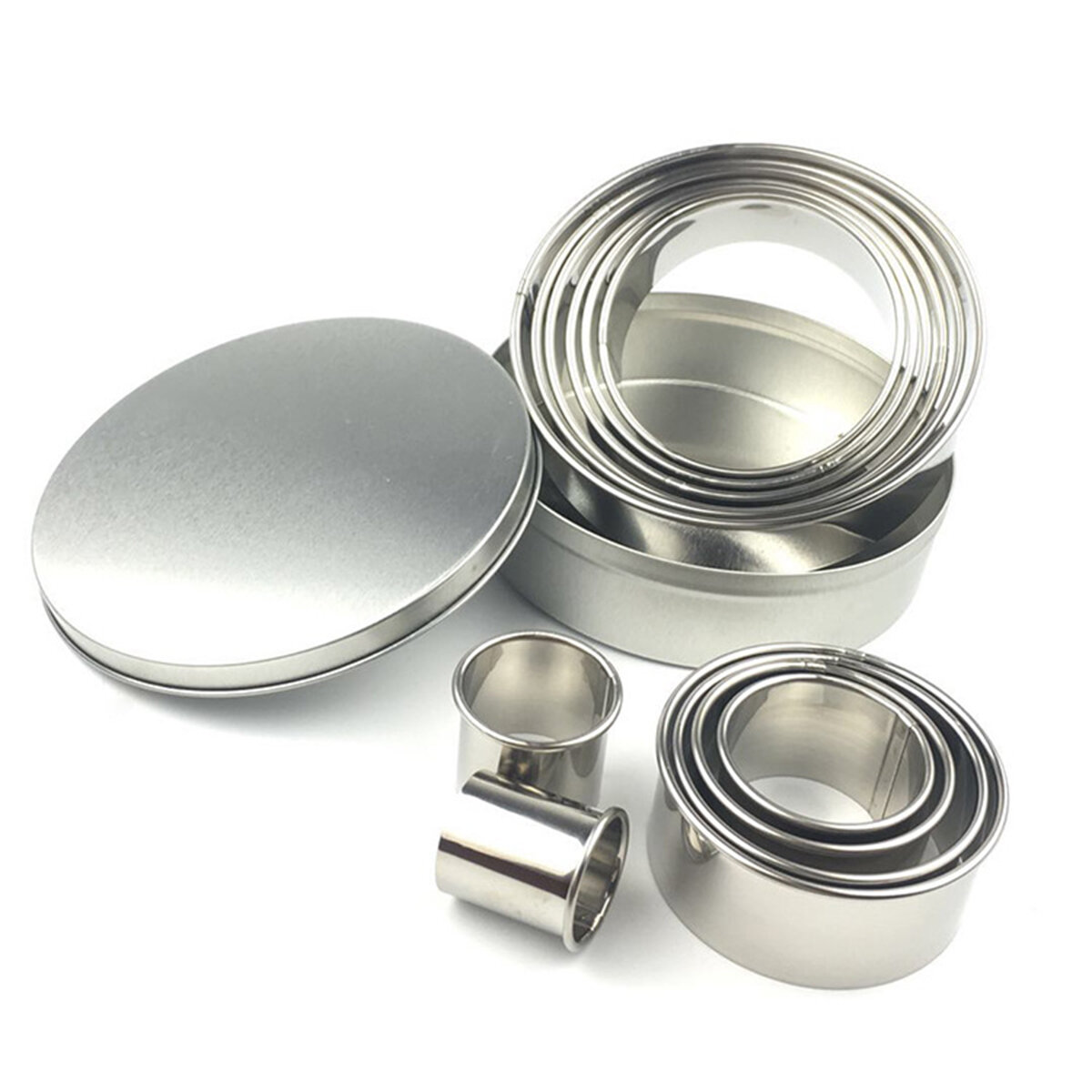 12pcs Stainless Steel Round Cake Biscuit Cookie Cutter Mold Baking Mould Baking Mold фото