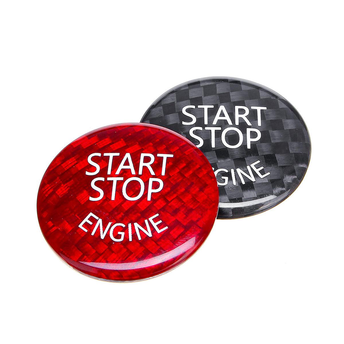 Start Stop Motor Knopfschalter Carbon Abdeckung für BMW E60 E90 E91 E92 E93 3er
