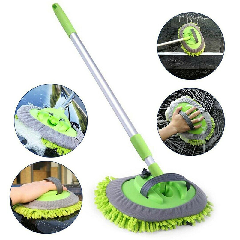 Multi-function 2 in 1 Car Wash Mop 360 Degree Spin Car Mop Head Auto Cleaning Mop Head for Cleaning Brush
