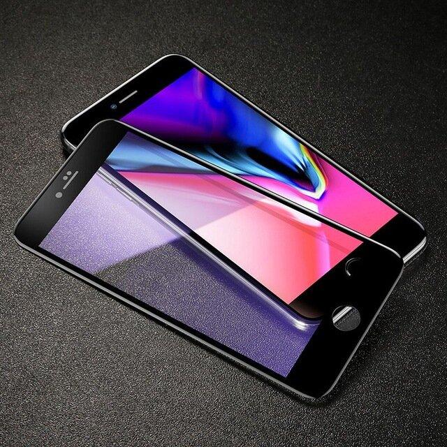 Baseus 5D Antikblå Lys 0.3mm Herdet Glassfilm til iPhone 7/8