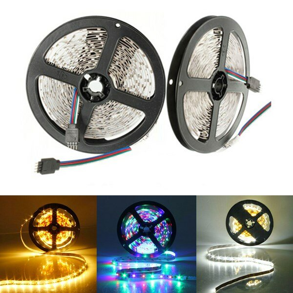 5M 300 LEDs SMD 3528 Flexible LED Luz de Tira No Impermeable DC 12V