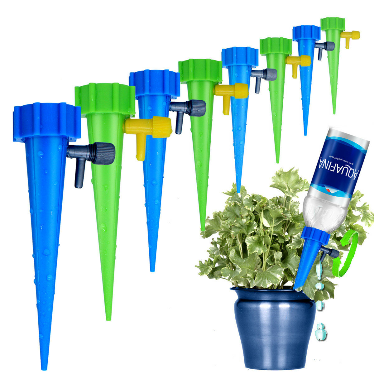 6pcs Plant Waterer Self Plant Watering Devices For Potted Flower Drip Irrigation