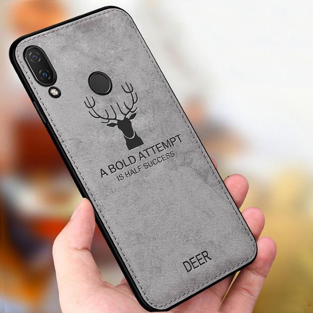 बकी हिरण शॉकप्रूफ एंटी-स्क्रैच क्लॉथ और टीपीयू सुरक्षात्मक मामला Huawei Honor1717172