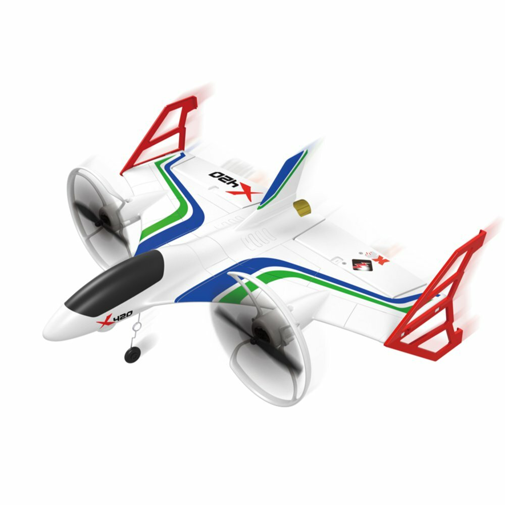 XK X420 2 4G 6CH 420mm 3D6G VTOL Vertical Take-off And Landing EPP 3D  Aerobatic FPV RC Airplane RTF