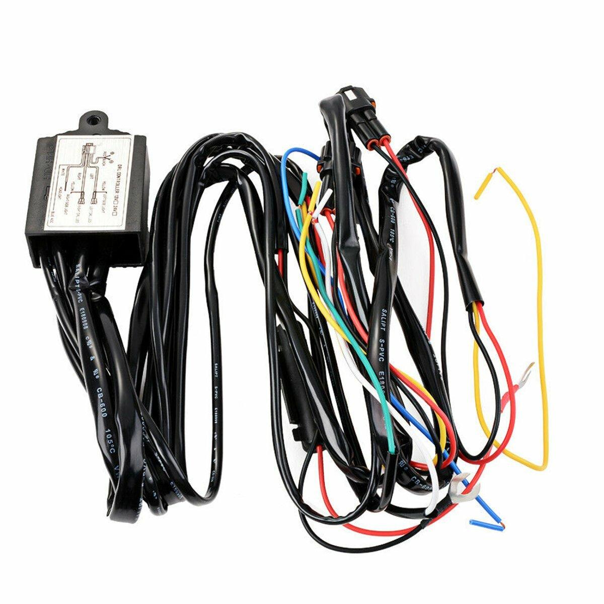 12V DRL Dimmer LED עמעום ממסר יום ריצה אור רכב על מתג הפעלה / כיבוי עם Flash הפעל אותות עיכוב פונקציה