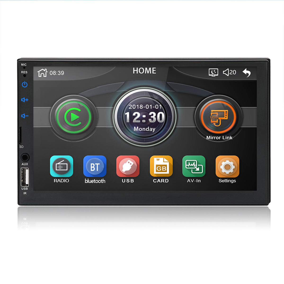 7 Inch 2 DIN WINCE Car MP5 Player FM Radio Stereo HD Touch Screen USB AUX bluetooth In Dash Support Carema
