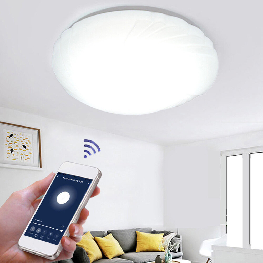 48W WiFi LED Ceiling Light Stepless Dimming APP Control Ceiling Light Living Room Dining Room Bedroom Works with Alexa G