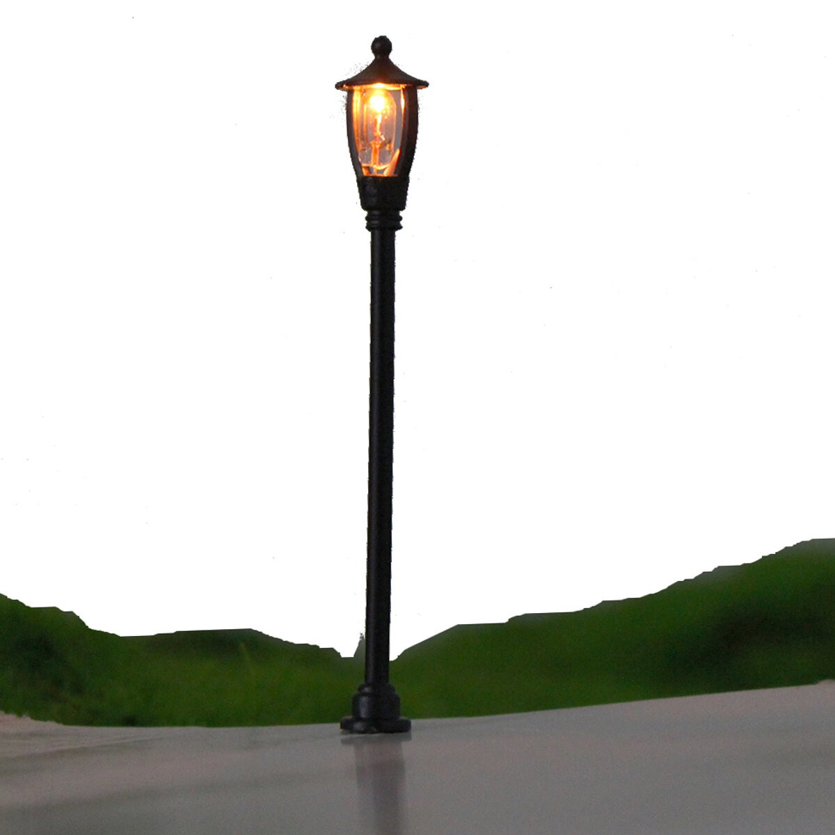 Garden Lamp 3d Model: 20pcs/set 1:100 Scale Single Head Garden Park Street Light