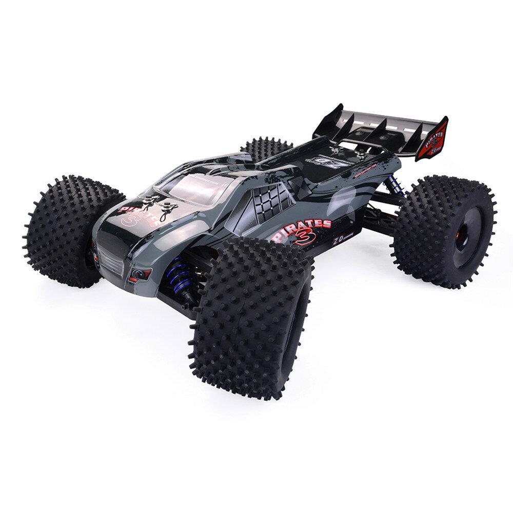 ZD Racing 9021-V3 1/8 2.4G 4WD 80 km / h Sin escobillas Rc Coche Completo Escala Truggy eléctrico RTR Toys
