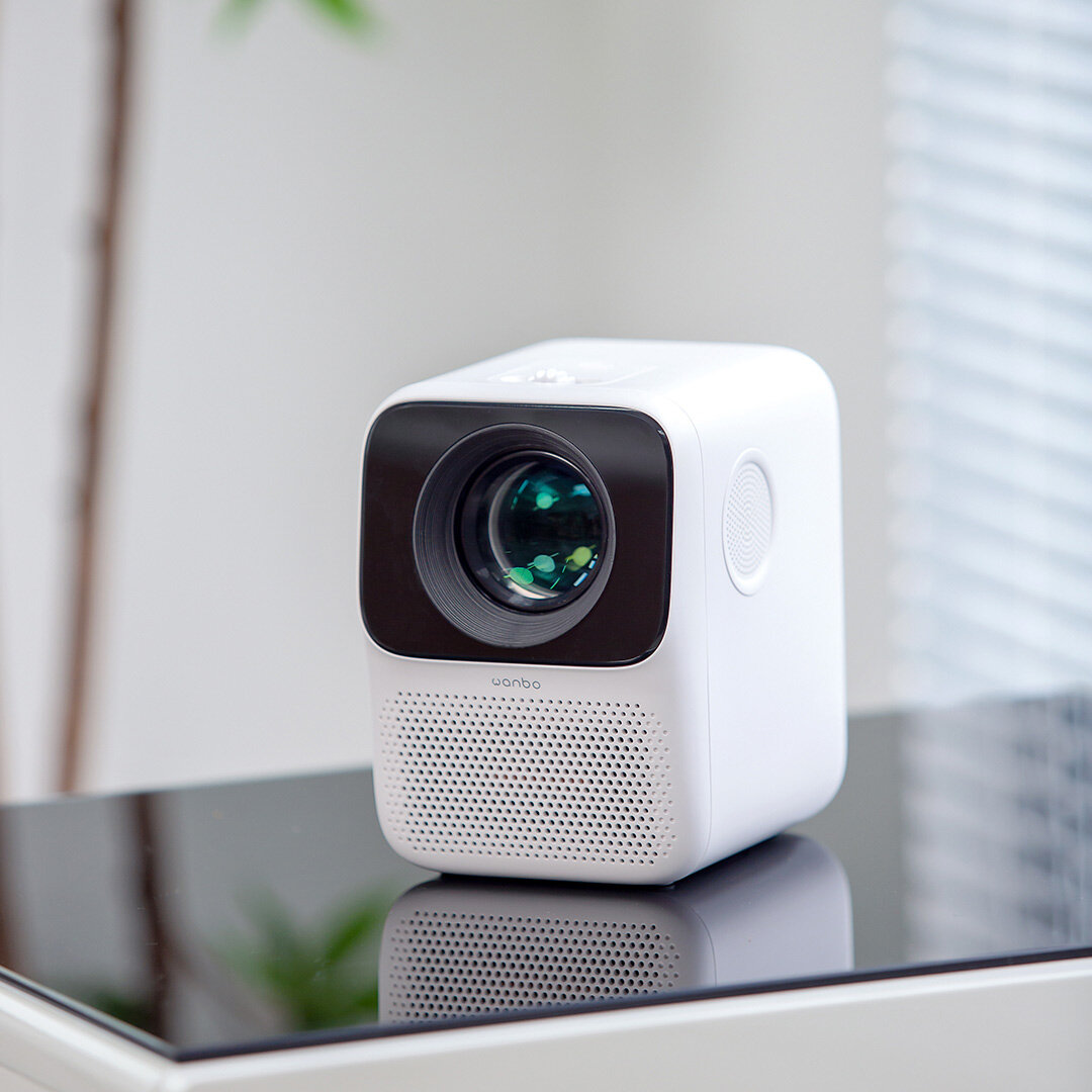 [Global Android] XIAOMI Wanbo T2MAX 1080P Mini LED Projector WIFI Android System 200ANSI Netflix YouTube Phone Same Screen Multi Language Vertical Keystone Correction Portable Cinema Home Theater Outdoor Movie Beamer