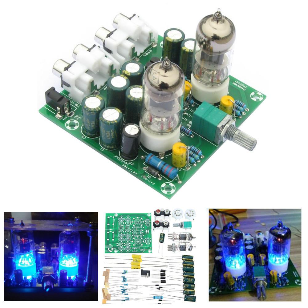 AC 12V 1A 6J1 Giá trị Preamp Tube Bộ khuếch đại Preamp Module PreAmoder Module Pre-Amp Tai nghe Preamp mật đệm Bộ dụng cụ DIY Bass Bass HIFI X10-D