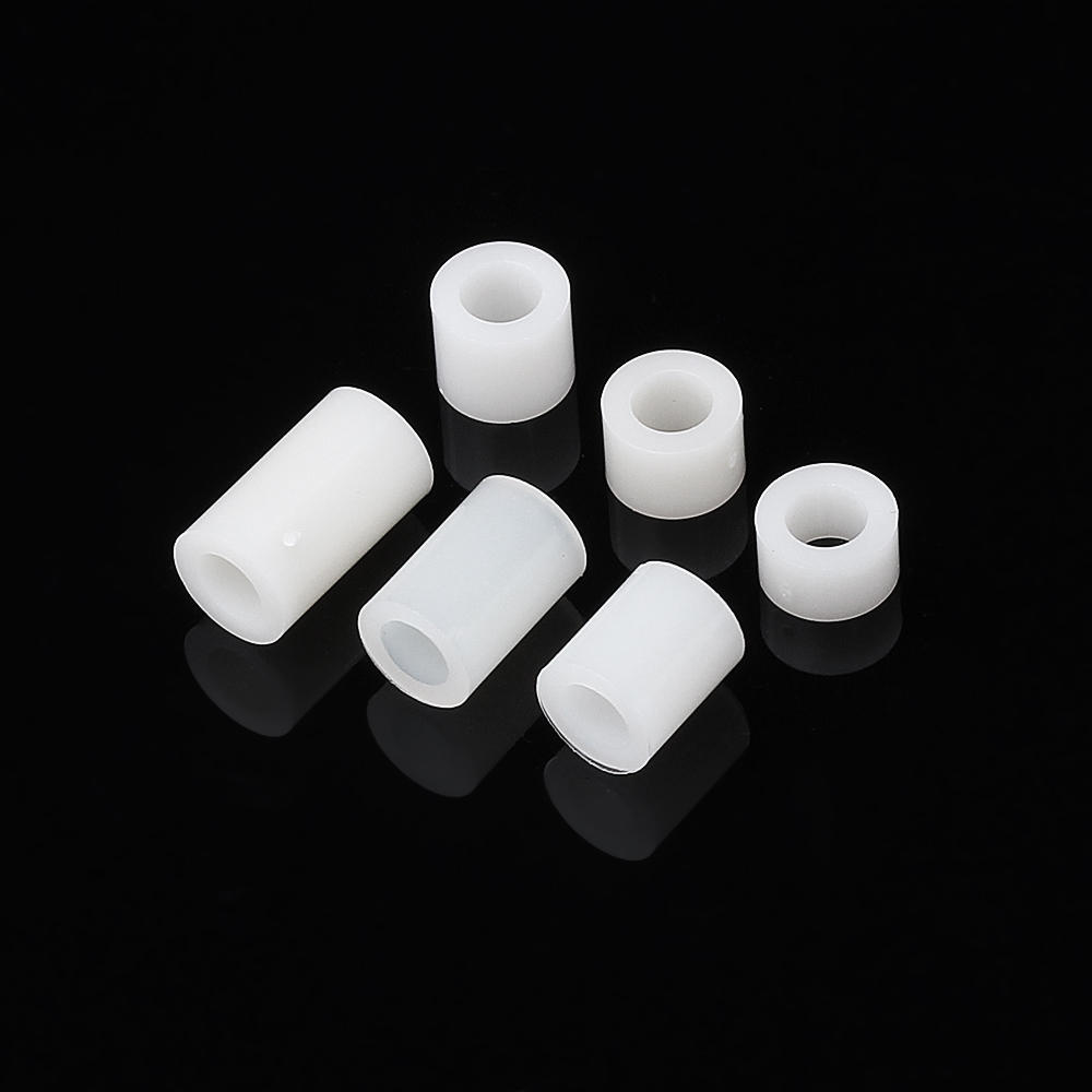 100Pcs M4 White Nylon ABS Non-Threaded Spacer Round Hollow Standoff For PC Board Screw Bolt