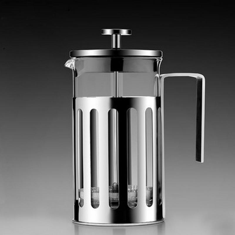 Máy pha trà cà phê cách nhiệt bằng thép không gỉ Pháp với bộ lọc đôi