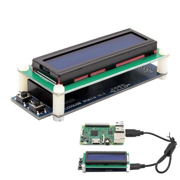 1602 RGB LCD Display With USB Port For Raspberry Pi 3B 2B B+ Windows Linux
