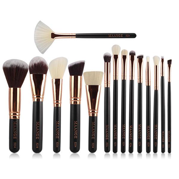 24e967bc4be0 15pcs MAANGE Makeup Cosmetic Brushes Kit Set Facial Foundation Blush  Blending Eyeshadow