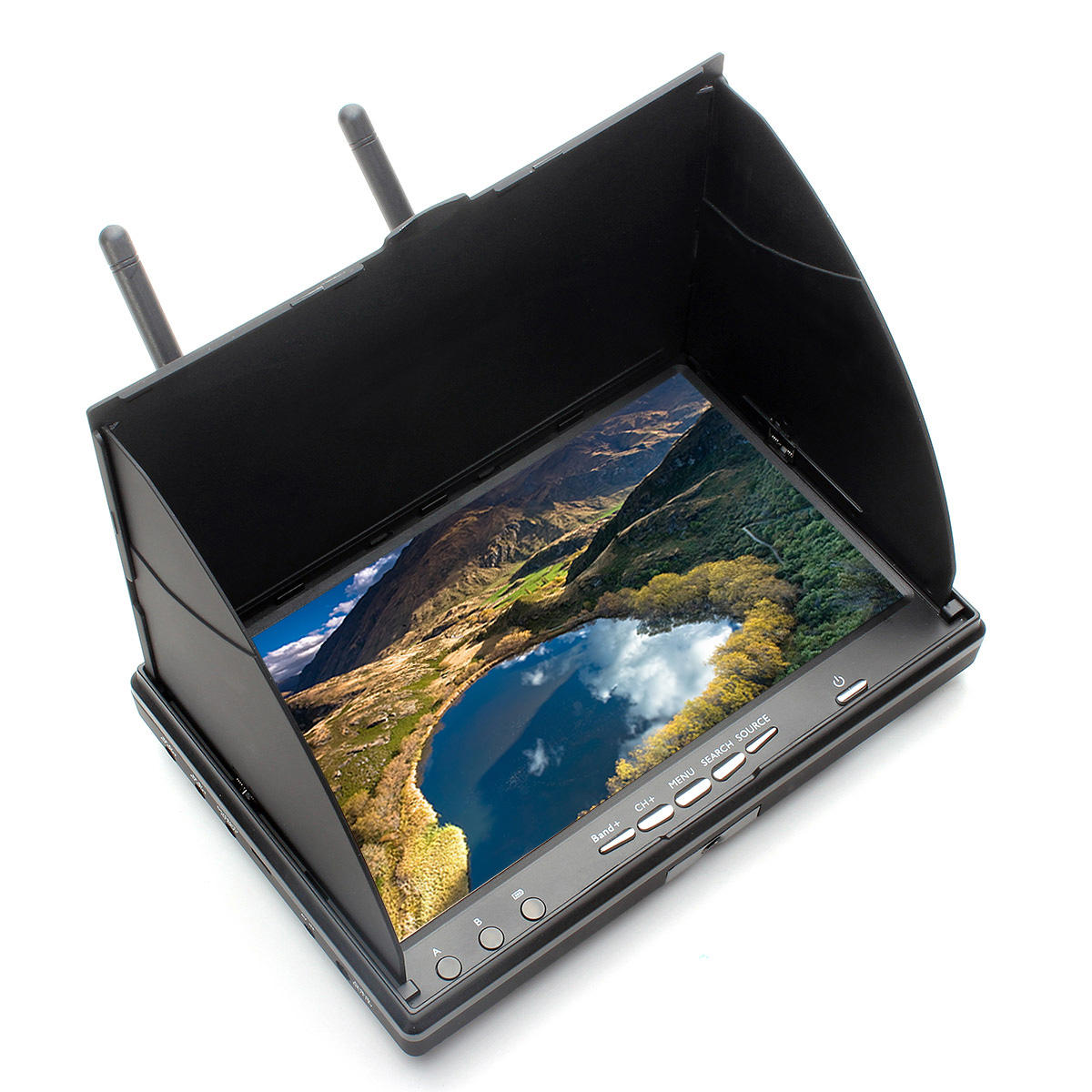 7/'/' 5.8GHz LCD Screen FPV Monitor Dual Diversity Receiver 40CH For FPV Drone  UK