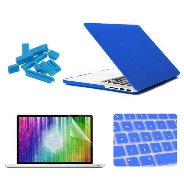 "ENKAY Matte Shell Keyboard Cover Screen Film Anti Støv Plug Set For Macbook Pro Retina 15,4 """