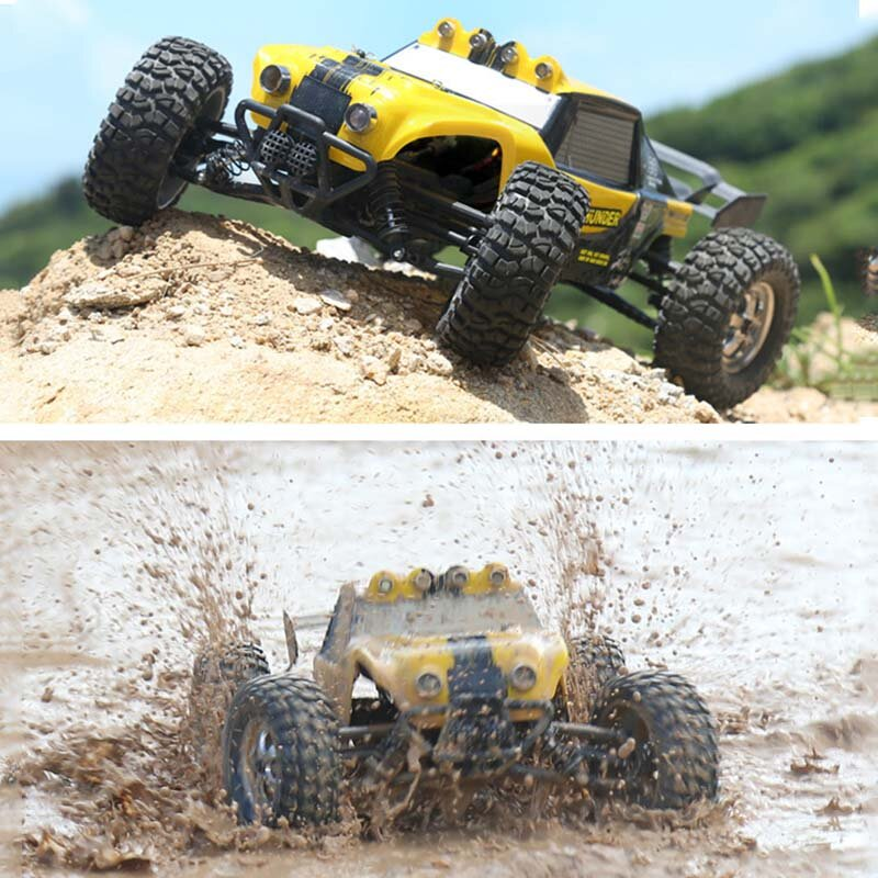 HBX 12891 RTR 1/12 4WD 2.4G Hydraulic Damper RC Car Desert Off-Road Truck with LED Light