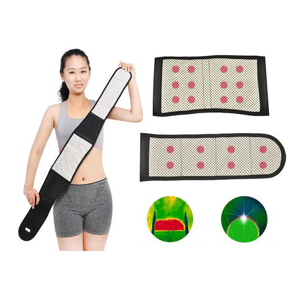 Terapia magnetica per tormalina Supporto per la vita autoriscaldante Indietro Cintura Supporto per la riabilitazione sportiva Banda
