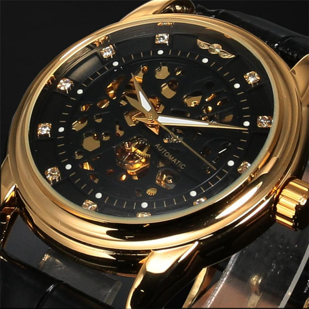 Casual Style Automatic Mechanical Đồng hồ đeo tay Full Steel Luxury Men Đồng hồ đeo tay