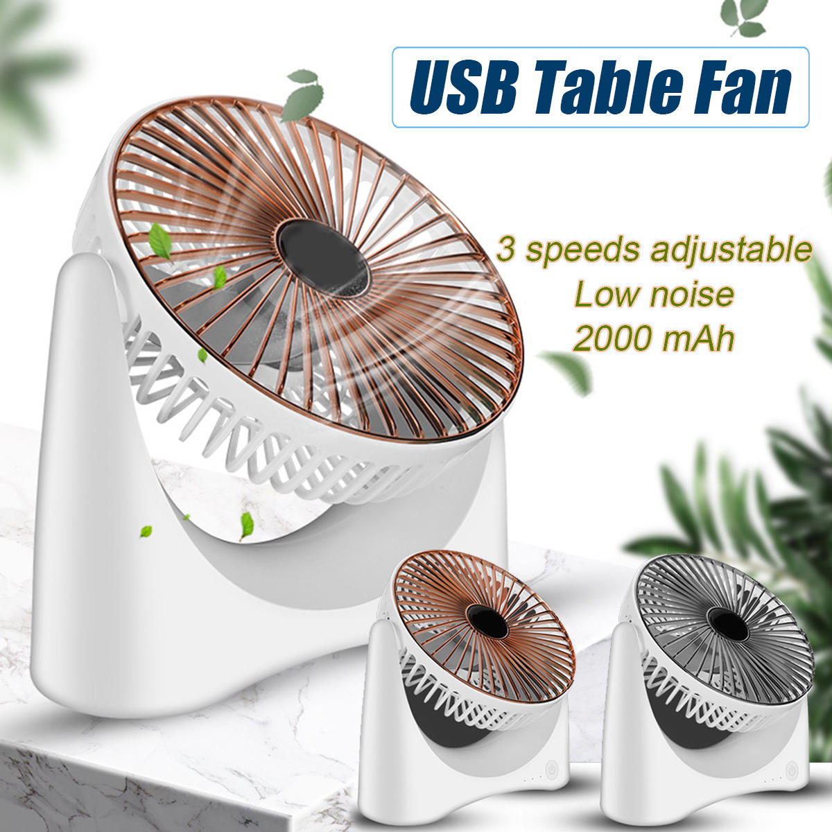 KCASA 210 Rotation Air Circulation Fan Mute Desktop Fans Cooler Atmosphere Convection Ventilation Electric Fan for Home Office