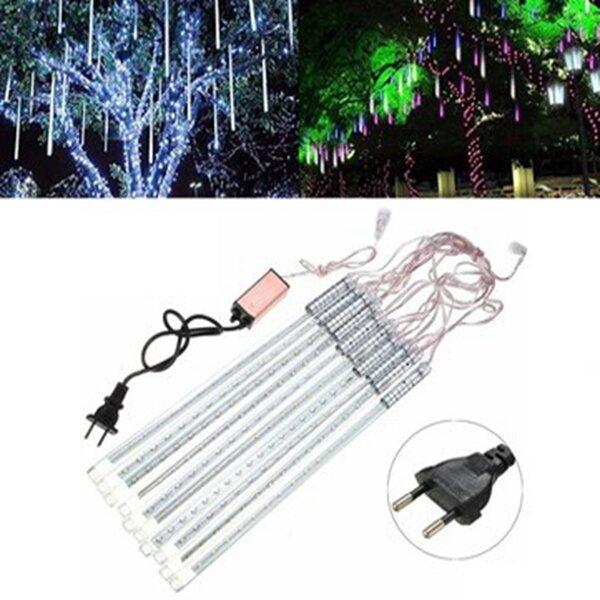30cm 10Tubes 300LED Meteor Shower Rain String Light Christmas Tree Decor with Driver EU Plug