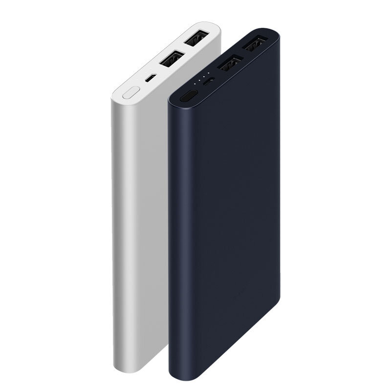 original xiaomi new 10000mah power bank 2 dual usb 18w quick