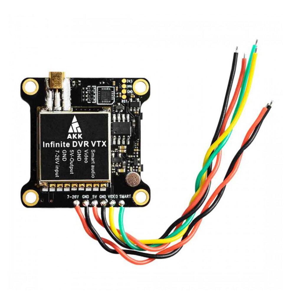 AKK Infinite DVR VTX 25/200/600/1000mW Power Switchable FPV Transmitter Support Smart Audio