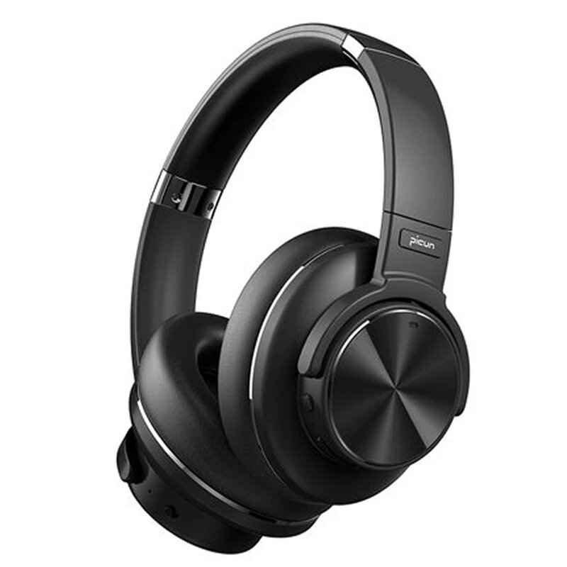Picun ANC-02 bluetooth 5.0 Headphones Active Noise Cancelling Wireless Headset On-Ear&Over-Ear Headphones USB Fast Charging With HiFi Deep Bass