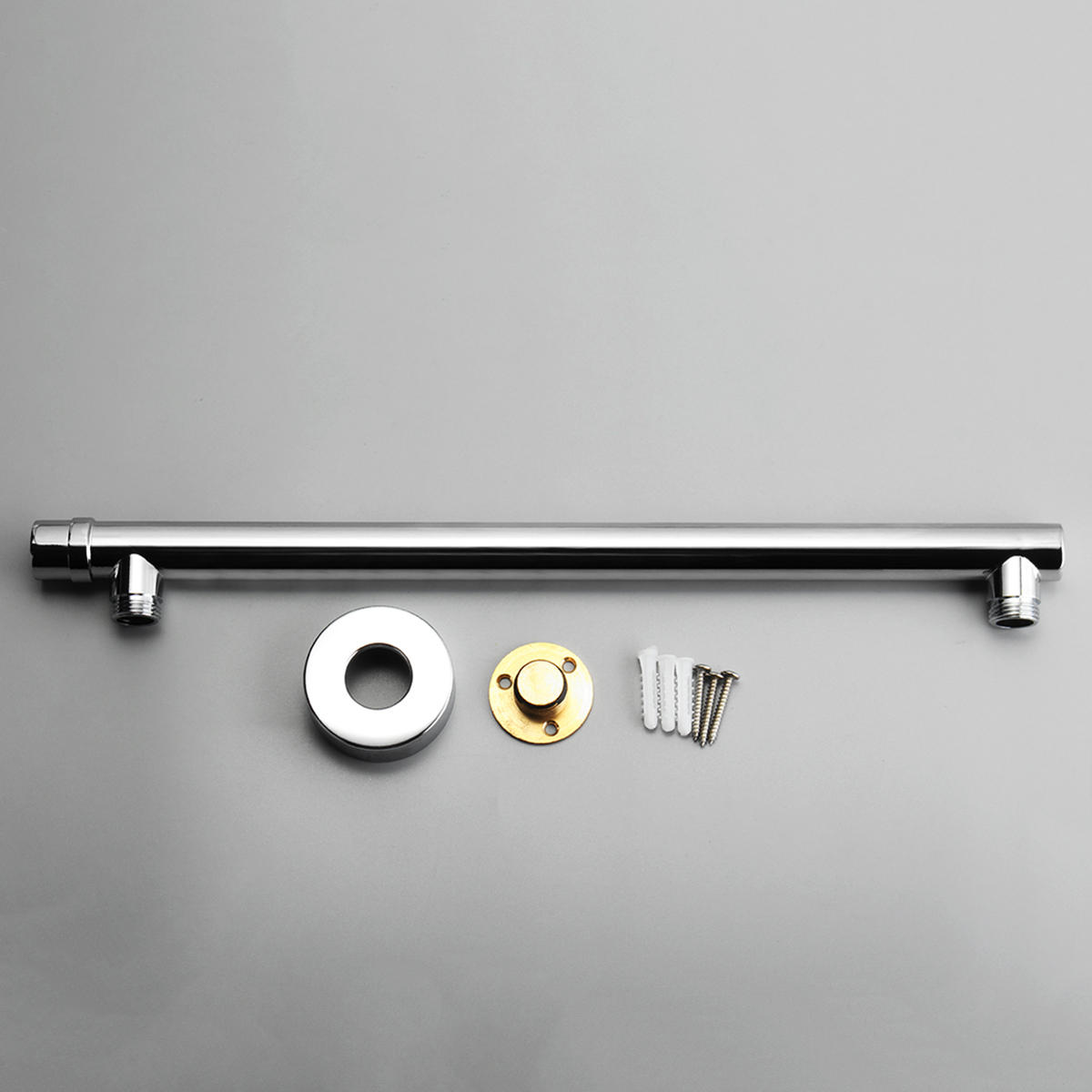 Picture of: 40cm Wall Mounted Bathroom Shower Head Extension Straight Arm Bottom Entry Hose Pipe Sale Banggood Com