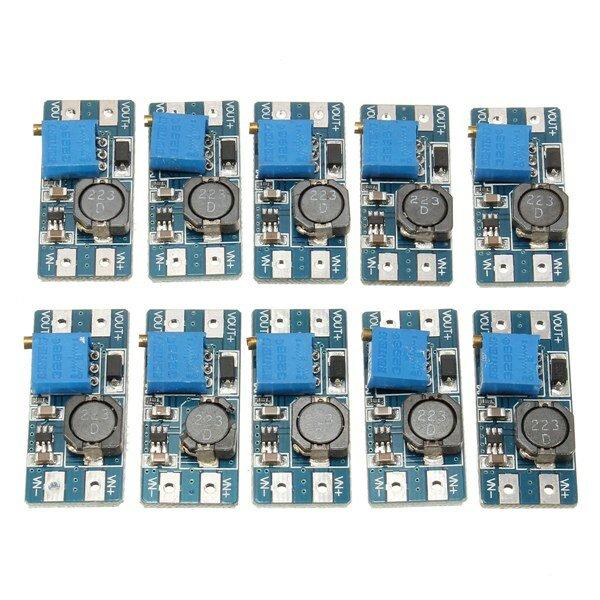 10 Pcs Step Up Power Spply Module 2A 2V-24V DC-DC Booster Power Module
