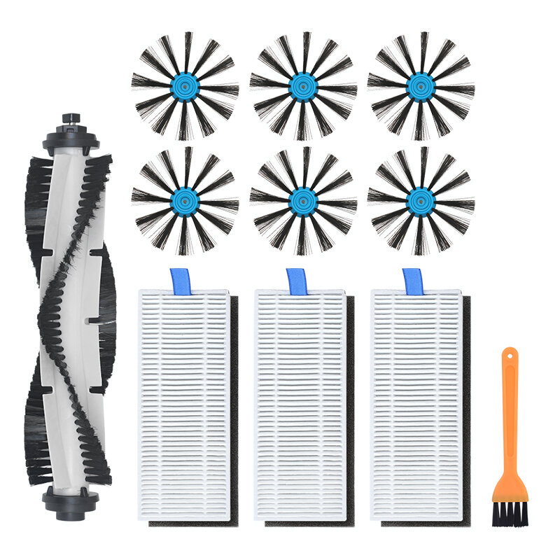 11pcs Replacements for Bissell 3115 Robot Vacuum Cleaner Parts Accessories Main Brush*1 Side Brushes*6 HEPA Filters*3 Cl