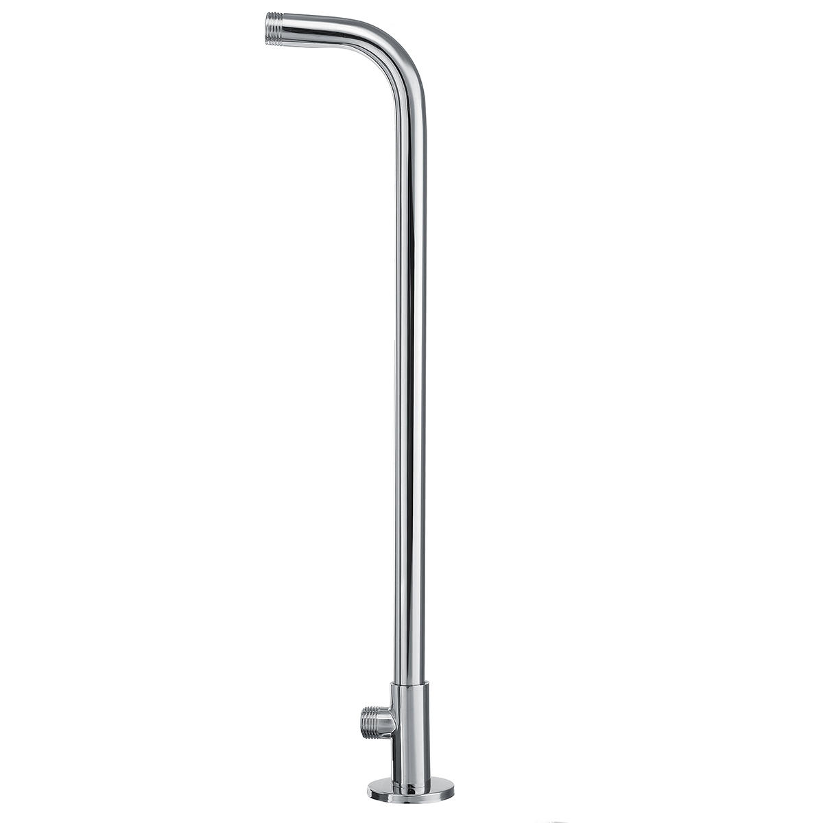 49cm Stainless Steel Wall Shower Head Extension Pipe Long Arm