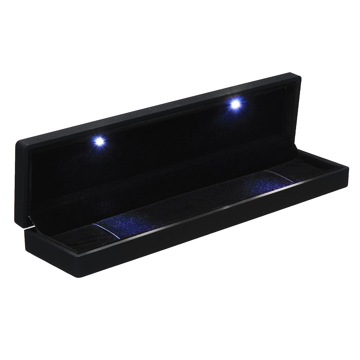 Led Lighted Earring Ring Gift Jewelry Box Display Case For Wedding Engagement