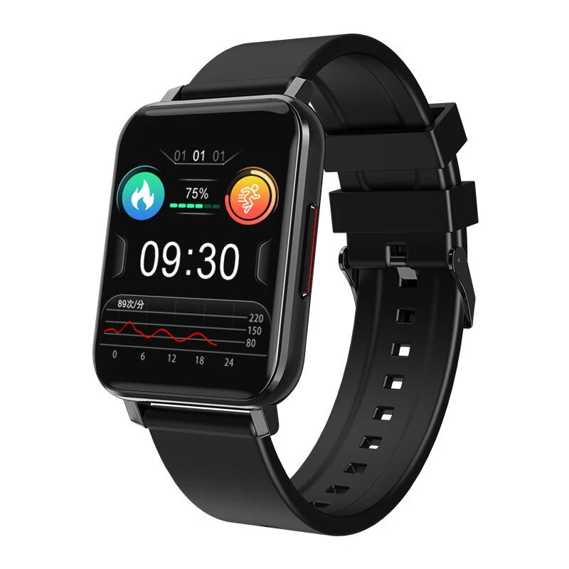 Bakeey T8 1.69 inch Touch Screen BT5.0 24h Heart Rate Monitor Blood Pressure Oxygen Body Temperature Measure Wristband D