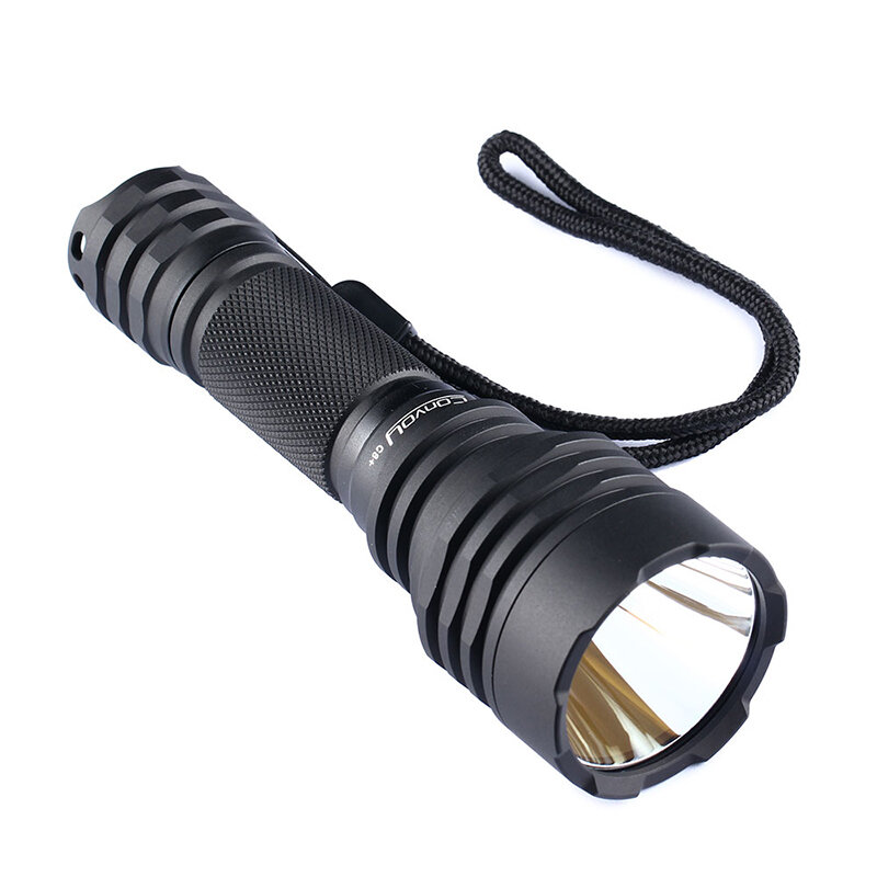 Convoy C8 Handheld LED Flashlight 8 Modes Aluminum Alloy Torch 1100LM Oak Brown