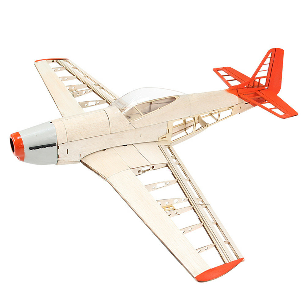 The New Eight-generation P51 Mustang 1000mmWingspan Light Balsa Wood Model Fixed-wing Fighter RC Airplane KIT
