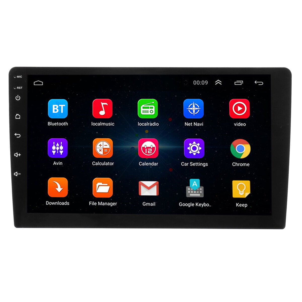 9 Inch 2 DIN Car Stereo Radio Quad Core Android 8 0 Touch Screen bluetooth  WIFI GPS Nav Video MP5 Player
