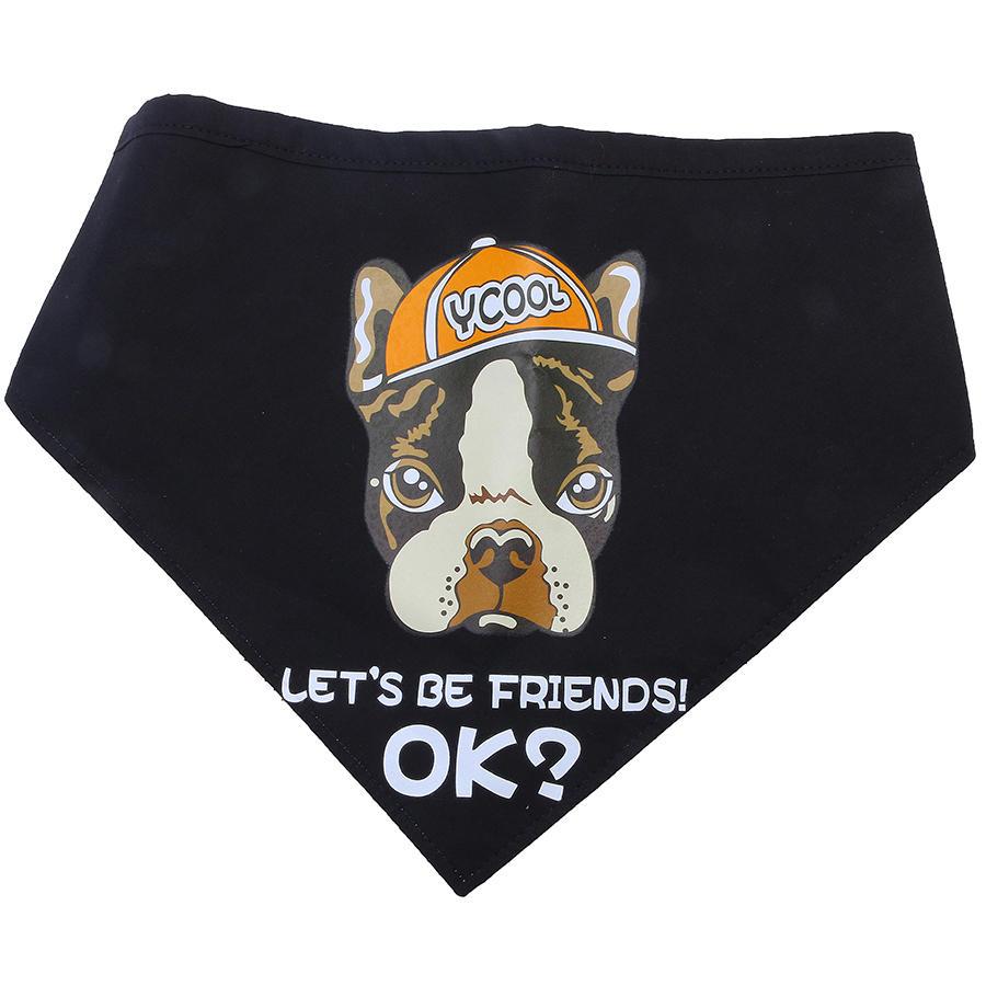 यानी केजी -1 कुत्ता बांदा डॉग स्कार्फ ब्लैक चलो दोस्त पिल्ला पालतू एक्सेसरी बनें