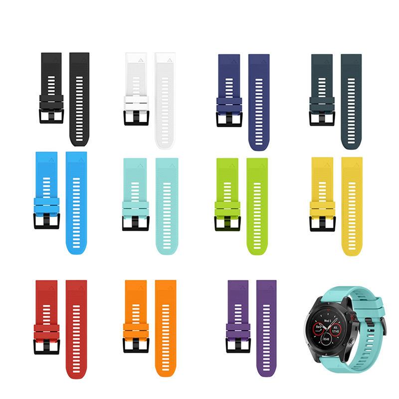 26mm Silicone Replacement Strap Watch Band for Garmin Fenix 3/Fenix 3 HR/Fenix 5x