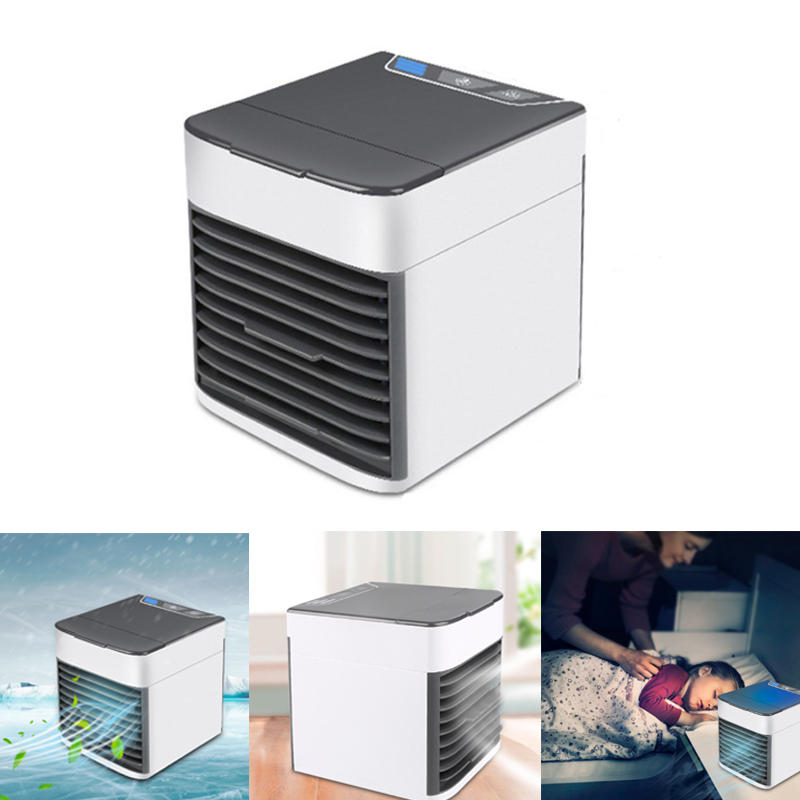 IPRee® Portable USB Air Cooler Fan Mini Air Conditioner 3 Modes Wind Cooling Humidifier