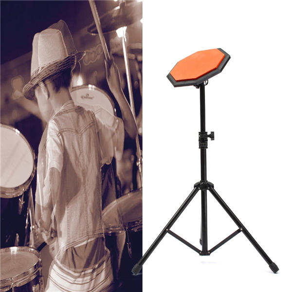 8'' 21cm Rubber Dumb Drum Practice Pads Set with Stand
