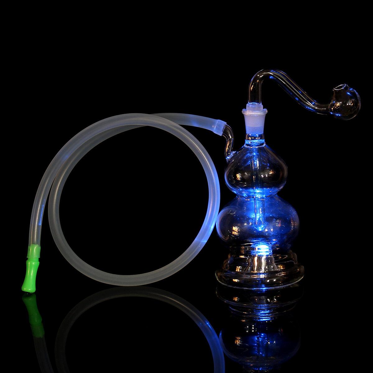 LED Hoookah Pipe Wasser Rauchpfeifen Glaspfeife Flaschenlichter wechseln