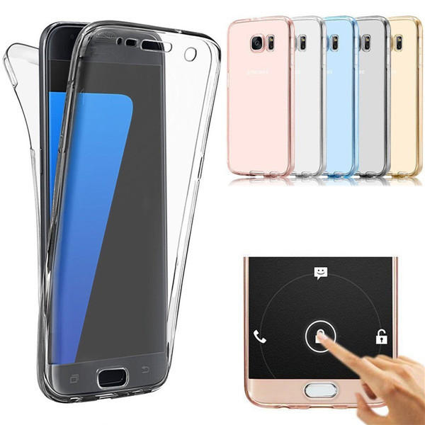 info for ba4a0 e4b98 360° Front And Back Protective TPU Clear Case Cover For Samsung Galaxy S7  Edge