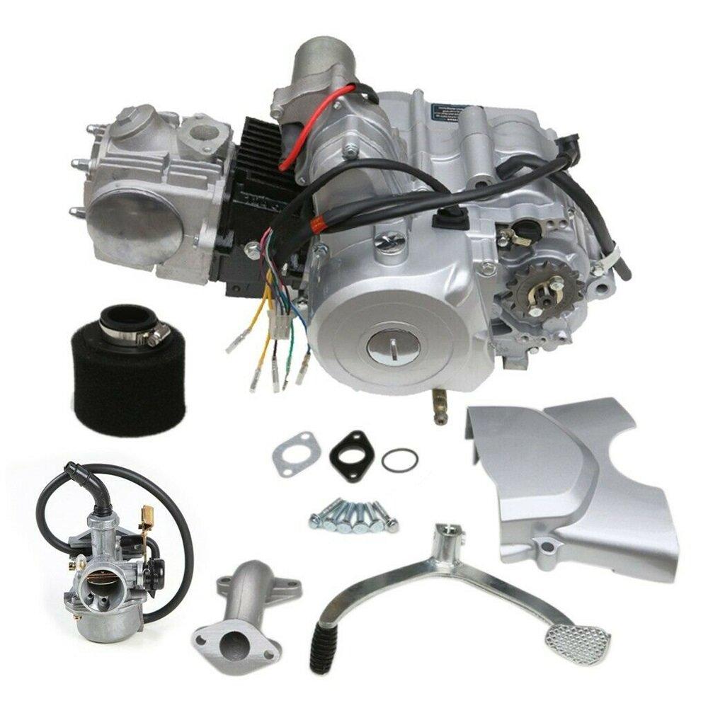 Kit de motor de motor 125 cc Semi Auto 3 velocidades + ATV Quad Go Kart 4 com rodas reversa