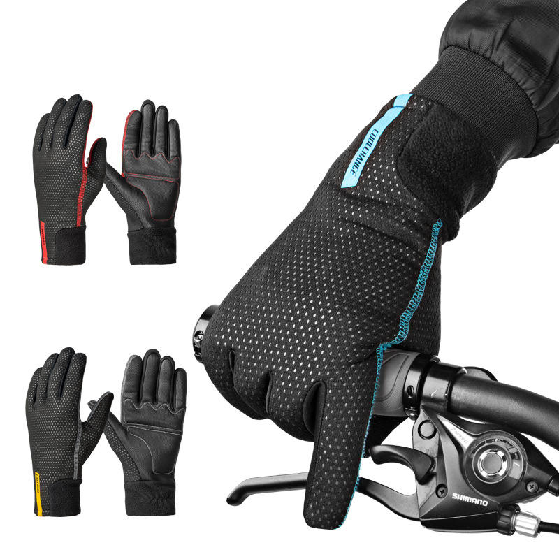 Winter Waterproof Thermal Warm Full Finger Gloves Cycling Anti-Skid Touch Screen