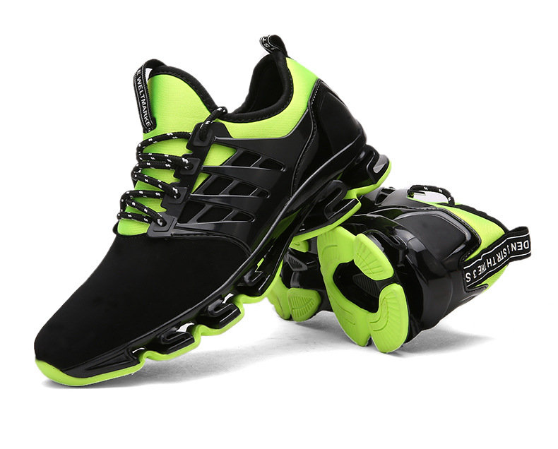 US Size 7.5-10 Outdoor Running Tank Bottom Sports Male Blade Cattle PVC Non-slip Breathable Shoes
