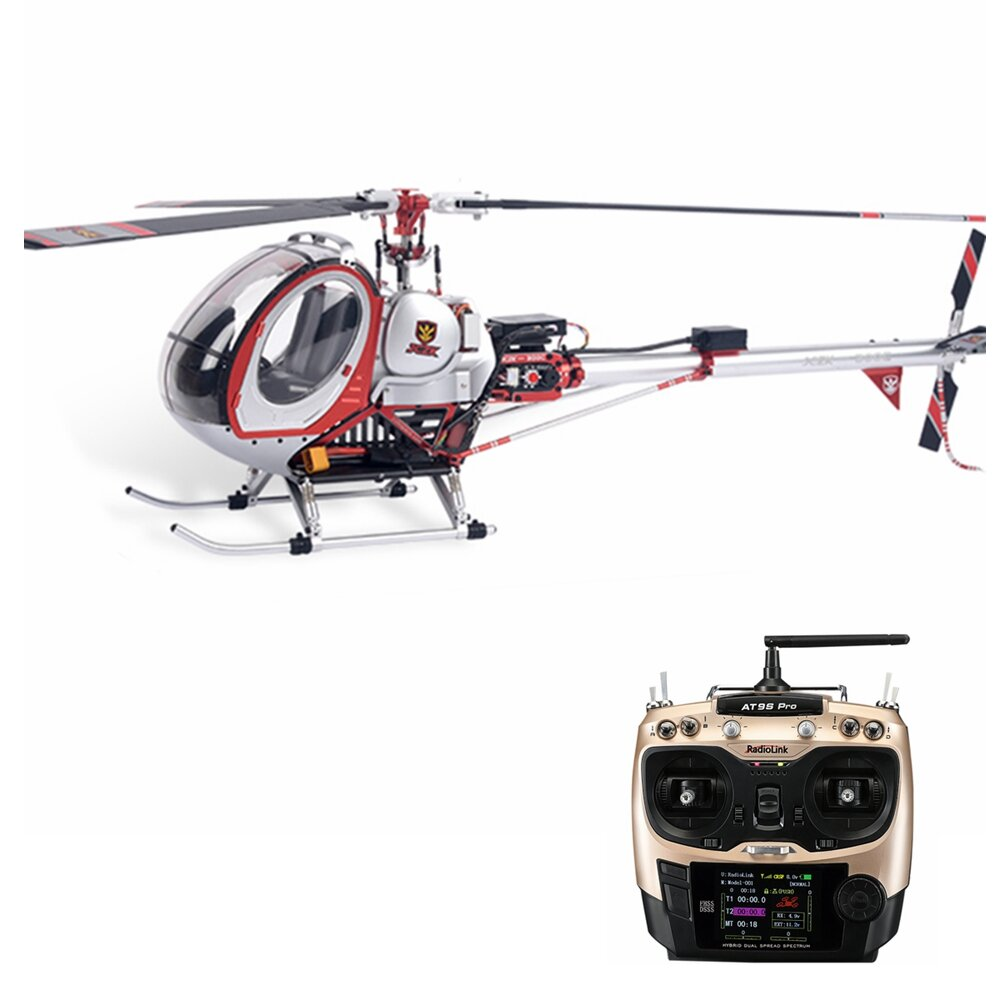 JCZK 300C-S 470L DFC 6CH Smart RC Helicopter OSD Information Return One-key Return Self-stabilization Mode With AT9S PRO